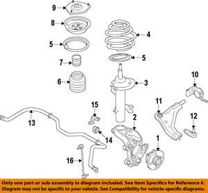 mini oem 02 15 cooper front upper spring insulator 31331128523 ebay rh ebay com Schematic for 2007 Mini Cooper mini cooper front bumper diagram