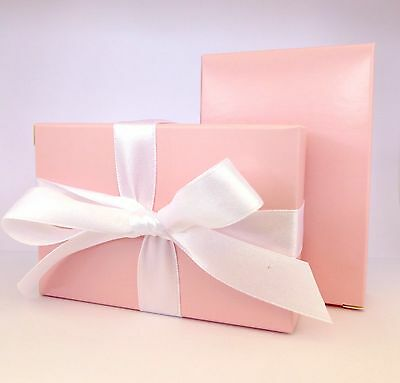 "100 Luxury Baby Pink Wedding Christening Shower Cake Favour Boxes ""Free P&P!"""