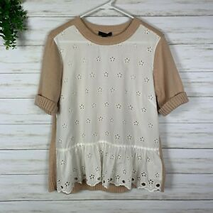 regular Selling Well All Over The World Preworn Beige Graphic Womens Chicken Christmas Jumper Size S