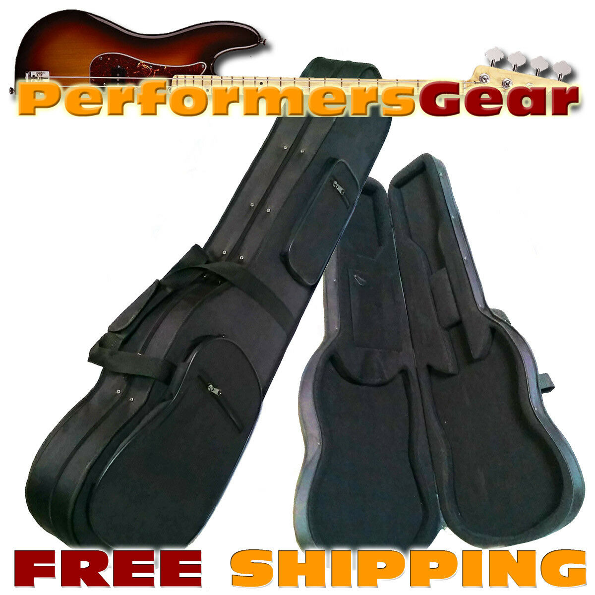 Hard Foam ContouROT Electric Guitar Case w/ Nylon Exterior, form Foam Interior