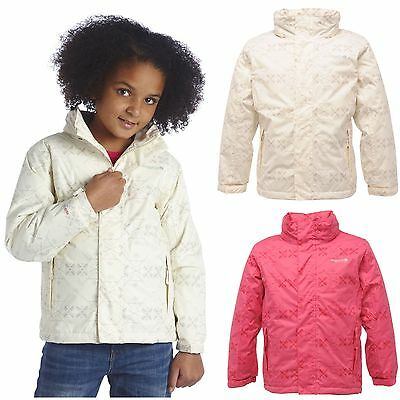 REGATTA EUELL PADDED WATERPROOF GIRLS RAIN COAT JACKET   AGE 5-12YRS