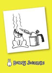 Bunny-Suicides-Death-By-Blowtorch-steel-funny-fridge-magnet-hb-REDUCED