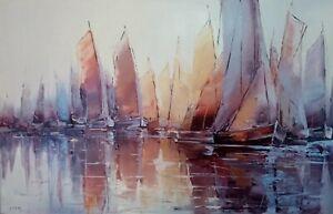 Tableau-peinture-65x100-034-Eu-silence-034-acrylique-sur-toile