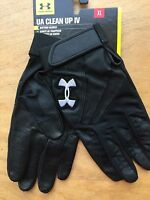 Under Armour Heatgear Black Ua Clean Up Iv Batting Gloves Xl Men Freeship