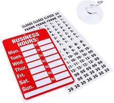 Business Hour Open Closed Sign Bundle Of Office Hours Sign Will Return Clock W