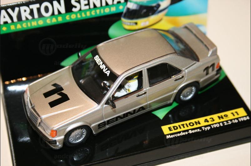 Mercedes Benz Typ 190E 2.3 16 1984 A.Senna  Edizione 43 n°11  1 43 Minichamps