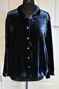Women-039-s-Toast-Pyjama-Set-Silk-Velvet-in-Blue-Dusk-size-16-BNWT