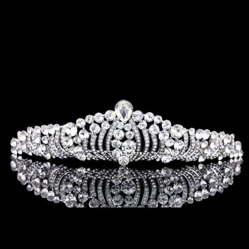 Bridal Pageant Rhinestones Crystal Prom Wedding Crown Tiara 6992