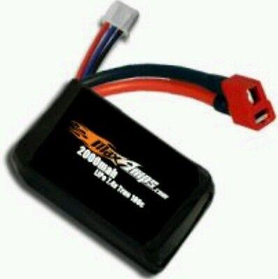 Maxamps LiPo 2000 2cell 100c 7.4v 2s micro Battery Losi Mini Baja Desert series