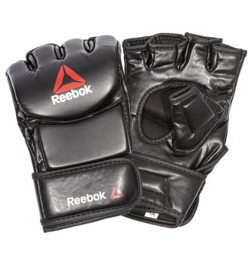 Reebok MMA Open Finger Glove Combat Gym Boxing Training Gloves RSCB-104RD