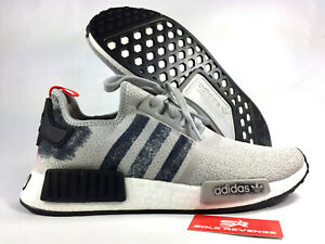 buy popular 6f7c3 b69b6 Details about NEW adidas Originals NMD R1 BOOST G27918 Grey/Black/Grey |  Stencil Pack c1