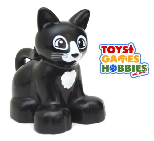 *NEW* LEGO DUPLO Black Cat Kitten Animals Farm House Creatures Zoo Family Pet