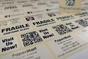 Details about Custom Printed Labels Stickers  38mm x 21mm  On a ROLL  Print  any TEXT you want!