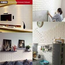 Luxus 3D effekt Flexibel Stein Ziegel Wand Texturiert Vinyl Tapete Selbstklebend