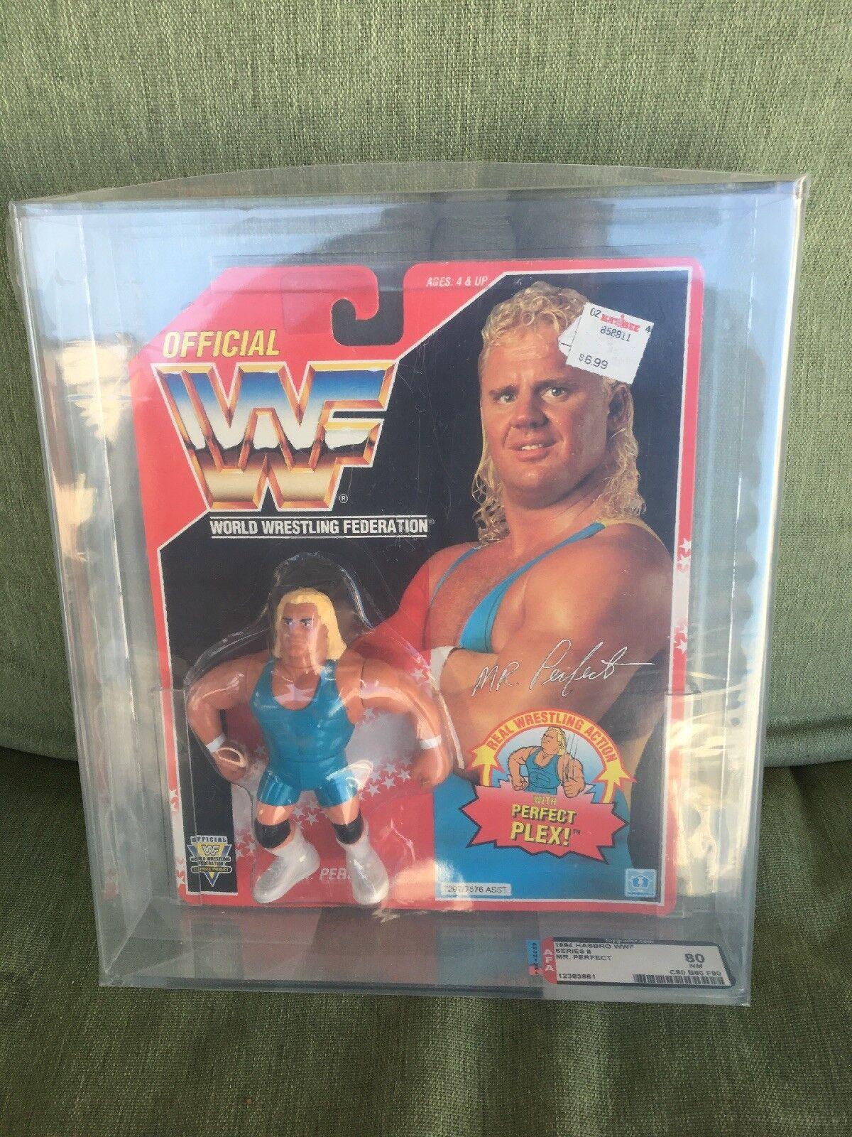 RARE VINTAGE WWF HASBRO MR PERFECT rosso autoD AFA  GRADED 80 NM 1993 WWE  acquista online