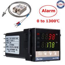 Ac 110v 240v 0 1300 Alarm Rex C100 Digital Led Pid Temperature Controller Kits