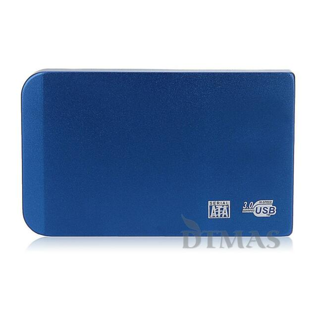 Aluminium USB3.0 2.5 inch SATA External Hard Drive Disk Case Enclosure PC Laptop