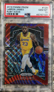 LEBRON-JAMES-2019-20-PANINI-PRIZM-129-LAKERS-RUBY-WAVE-PRIZM-PSA-10