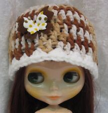 BLYTHE Doll Clothes HAT #03 Handmade Beanie w/Butterfly Multicolored CAP