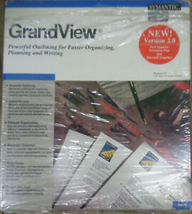 """GrandView, by Symantec - Version 2.0, 1990. For 5 1/4"""" IBM PC/XT/AT, PS/2 & comp"""
