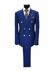 PAMONI-Cobalt-Blue-Double-Breasted-Suit-With-Gold-Button