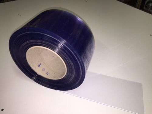 "Strip Curtain 8/"" Wide x 50/' Roll Cooler Freezer PVC USDA NSF clear vinyl door"