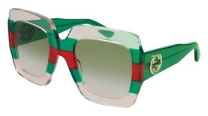 0ca94627749 Image is loading Gucci-GG0178S-white-red-striped-green-green-shaded-