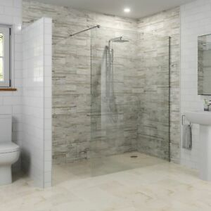 Modern-1200mm-Walk-In-Wet-Room-Shower-Screen-Panel-Easy-Clean-8mm-Safety-Glass