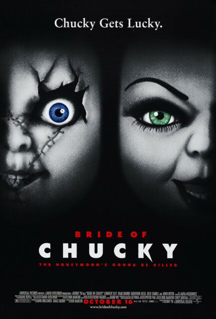 BRIDE OF CHUCKY (1998) ORIGINAL MOVIE POSTER  -  ROLLED