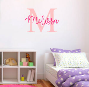 Personalised Name Nursery Wall Decal Kids Baby Boy Girl Art Bedroom Wall Sticker Ebay