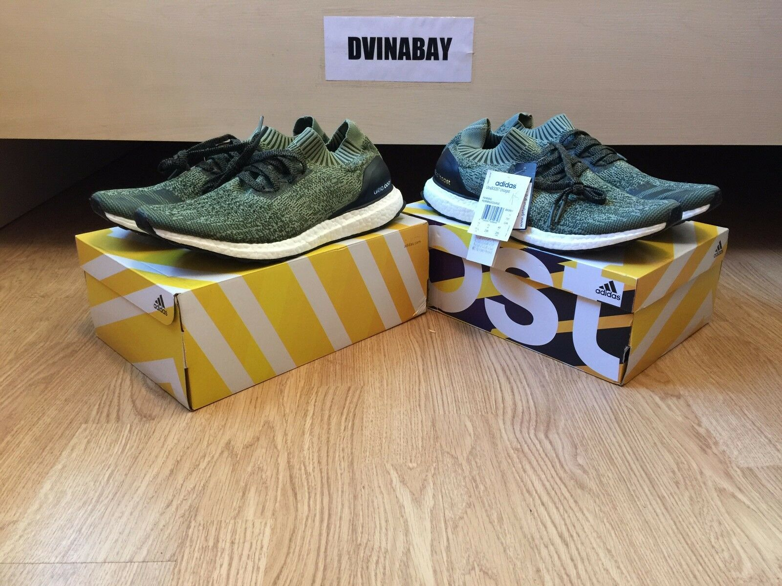 Adidas Ultra Boost Uncaged M BB3901 Base Green Olive Earth 8 11.5 US