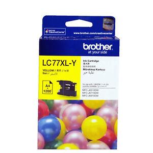 GENUINE-Original-Brother-LC77XLY-YELLOW-Ink-Cartridge-Toner-LC77XL-Y