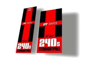 DT Swiss 240s SP Bicycle Hub Decal Road MTB Sticker Adhesive Set White 2 Pcs
