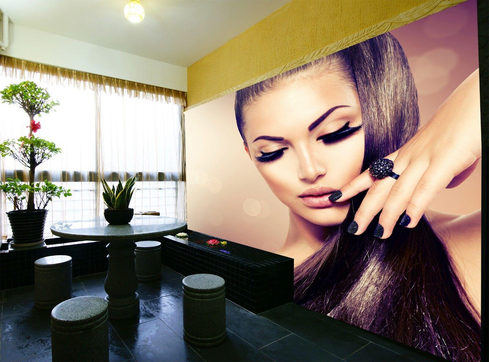 Wonderful Hair  Photo Wallpaper Wall Mural DECOR Paper Poster Free Paste