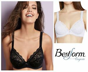 95b4510fb7519 Image is loading Bestform-Luccia-Non-Padded-Underwired-Plunge-Bra-17409-