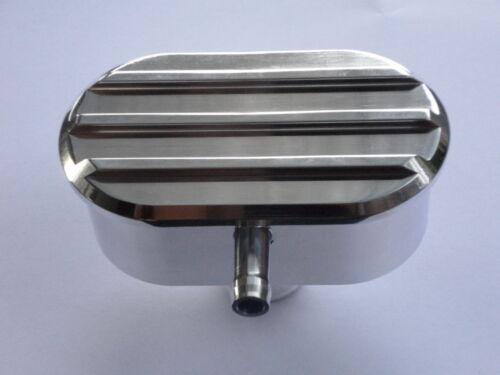 ROCKER COVER  BREATHER POLISHED FINNED FINISH WITH PCV CONNECTION FORD CHEV