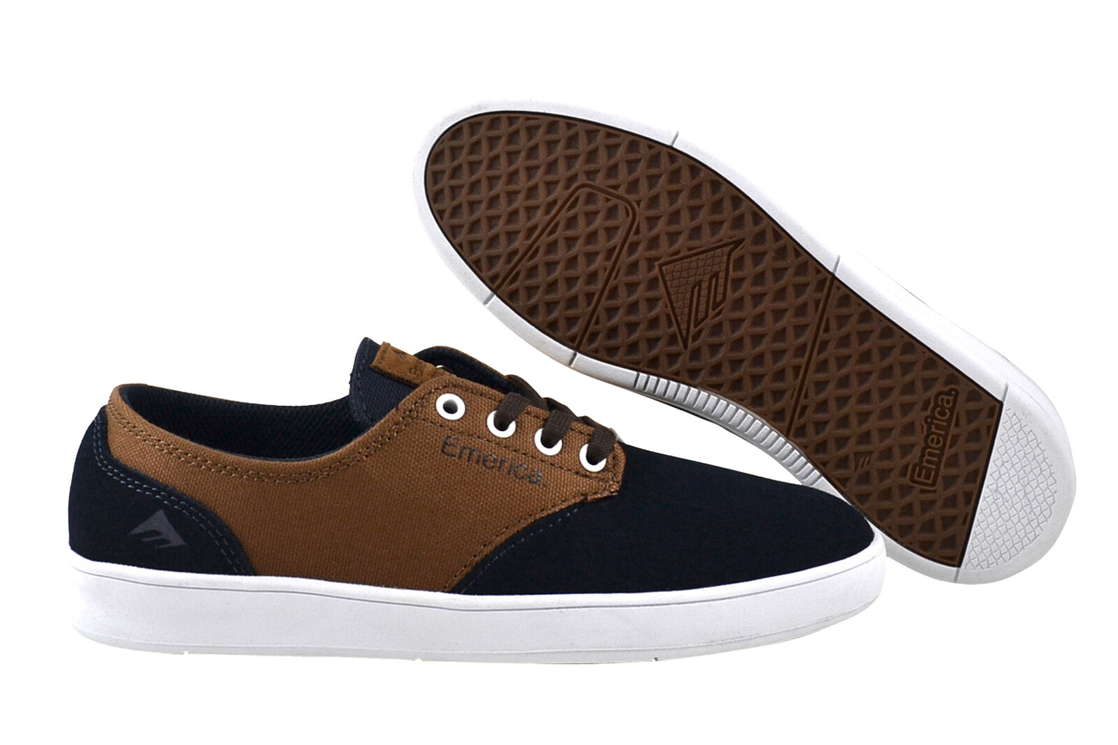 EMERICA The Romero laced Navy Brown White Sneaker Scarpe Navy Scarpe classiche da uomo