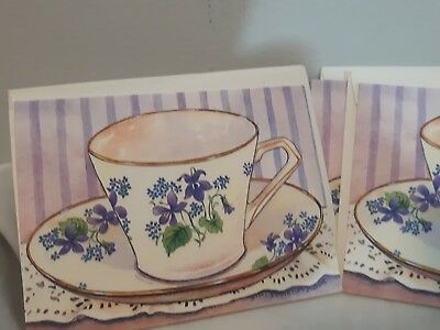 Set of 4 Coffee Note Cards