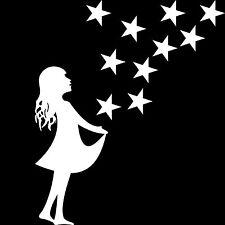 Sterntaler + 10 Sterne Sternfänger Christkind Aufkleber Deko Folie Weihnachten
