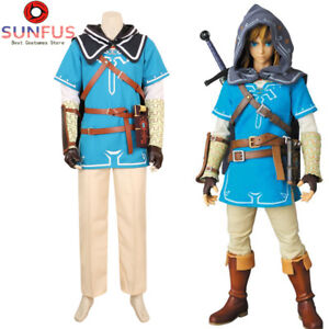 Halloween The Legend of Zelda Breath of the Wild Link Costume Cosplay