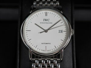 original IWC SCHAFFHAUSEN PORTOFINO AUTOMATIC HERREN ARMBANDUHR HAU Uhr mit Etui