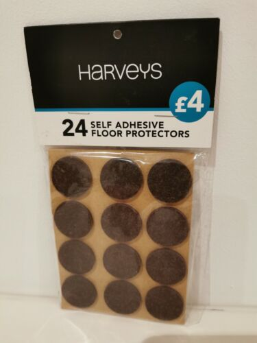HARVEYS 24 Self Adhesive Floor Protectors Chair Leg Pads Table Pads Non Slip