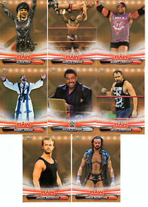 2019 Topps Wwe Road to Wrestlemania U-Pick Insertos De Bronce Y