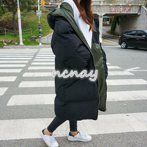 Womens Winter Loose Hooded Coat Warm Puffer Padded Military Outerwear Jacket New