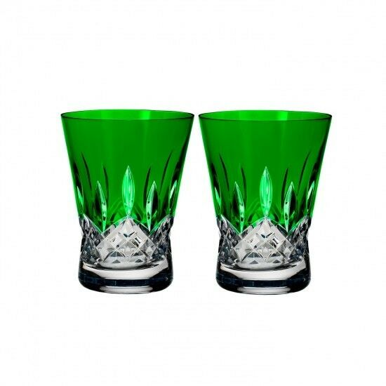 Lismore Pops Emerald Double Old Fashioned DOF Paire  40019538 NEUF