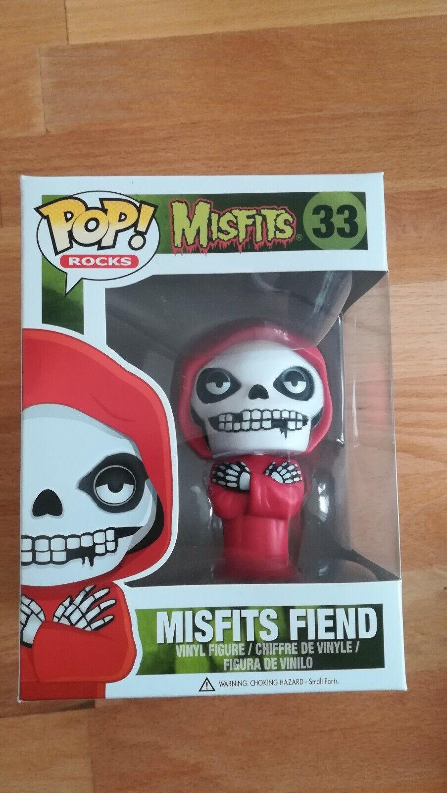 ¡Pop  Rocks Misfits Fiend 33 Vinyl Figura Nuevo