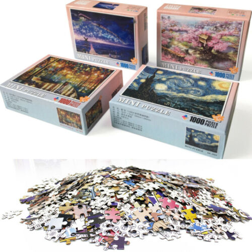 Adult 1000 Pieces Jigsaws Cardboard Puzzles Kids Educational Game Toy Difficulty