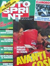 Autosprint n°27 1987 Ferrari Gerard Berger  [P5]
