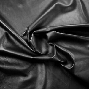 Lamb Nappa Leather 0.7 Mm Black Beautiful Soft Smooth Barker Hide & Skins N248-afficher Le Titre D'origine