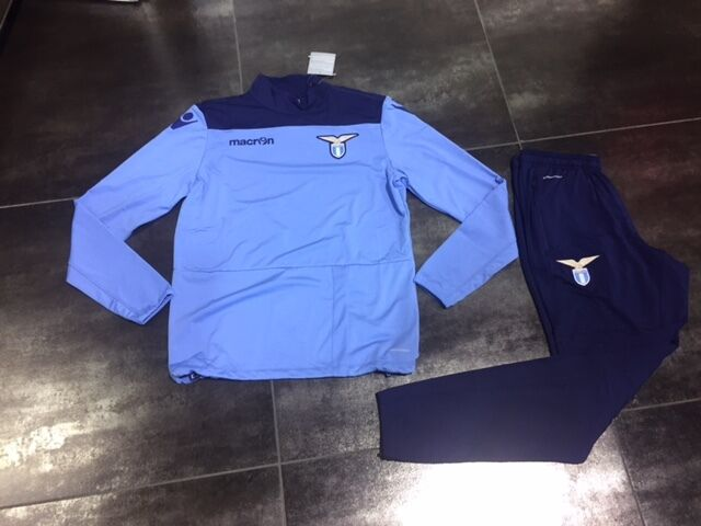 Fw16 Lazio Macron Traje Entrenamiento Training Suit Tracksuit Sudadora Cel